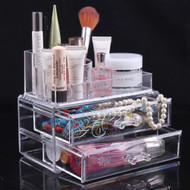 Cosmetics Storage Box Jewelry Holder Crystal Cosmetic Box Acrylic Makeup Organizer