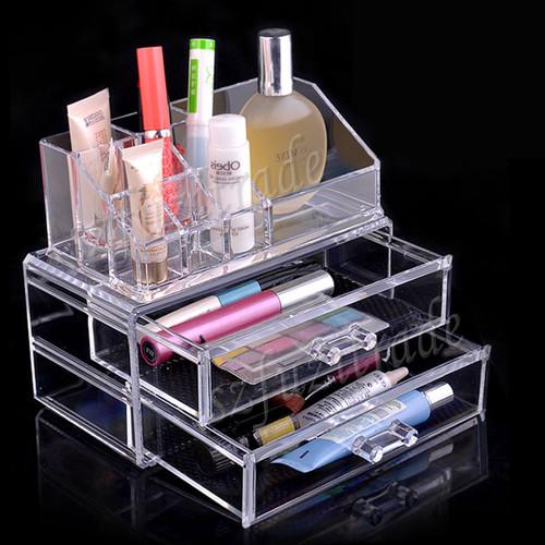New Cosmetic Makeup Clear Acyrlic Jewelry Organizer Holder Box