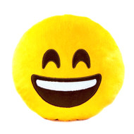 EMOTICON EMOJI YELLOW ROUND CUSHION PILLOW STUFFED PLUSH TOY DOLL LAUGHTER