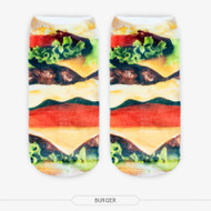 Burger One Size Fits All Ankle Polyester Socks Multi Color
