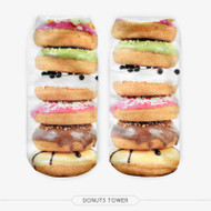 DONUT ONE SIZE FITS ALL ANKLE POLYESTER SOCKS MULTI COLOR
