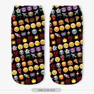 Emoticon Multi Emoji Ankle Socks Black One Size Fits All