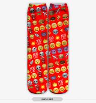 Emoticon Multi Emoji Stocking Socks Red One Size Fits All