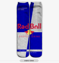 ENERGY DRINK STOCKING SOCKS ONE SIZE FITS ALL BLUE