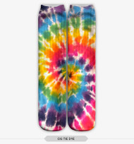 TIE DYE STOCKING SOCKS ONE SIZE FITS ALL MULTI COLOR