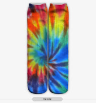 HIPPIE TIE DYE STOCKING SOCKS ONE SIZE FITS ALL MULTI COLOR