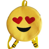 Emoticon Emoji Backpack Round Plush Heart Eyes