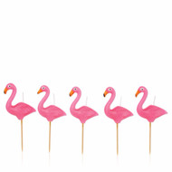 SunnyLife Flamingo Cake Candle 5 Set - Pink