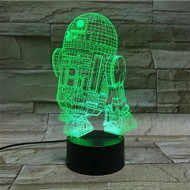 PHANTOM LAMPS R2D2 3D LED ILLUSION LAMP