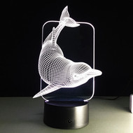 PHANTOM LAMP DOLPHIN TREE 3D LED ILLUSION LAMP