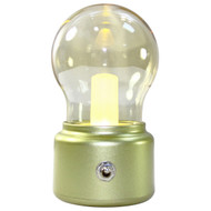 Rolling Lit LED Vintage Light Bulb Rechargeable Night Light Portable (Gold)