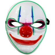 Rolling Lit LED Light Up Scary Clown Mask