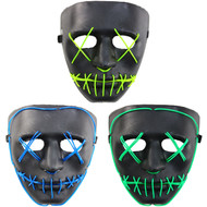 Rolling Lit LED Light Scary Undead Zombie Skull Mask