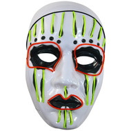 Rolling Lit Men's LED Glow Scary Mummy Mask