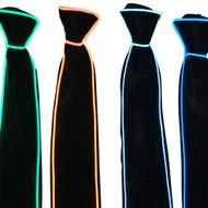 Rolling Lit Men's LED Glow El Wire Illuminating Adjustable Tie