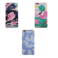 Sunology Hybrid PC Hard Plastic Shell iPhone Case Flamingo