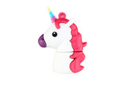 White Unicorn Emoticon 16GB USB Flash Drive