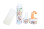LUSH NAILZ Acrylic Monomer/Acrylic Powder/Nail Prep/Buffer/Practice Finger Kit