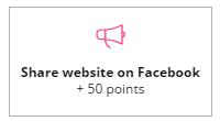 +50 share website on Facebook