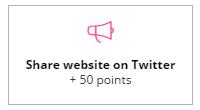 +50 share website on Twitter