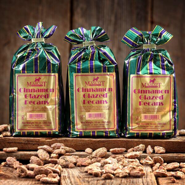 3 10oz bags of cinnamon glazed pecans