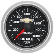 Auto Meter 880450 GM Series Electric Brake Pressure Gauge