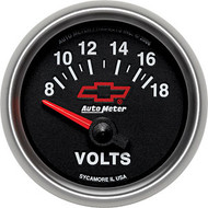 "2-1/16"" Voltmeter, 8 -18 Volt, Short Sweep Electrical"