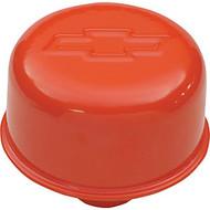 """Air Breather Cap - Push-In, 3"""" Diameter – Chevy Orange"""