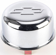 "Air Breather Caps - Push-On, 3"" Diameter, For Use with Oil Filler Tube, 1.820"" Opening – Chrome"