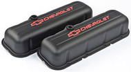 Chevrolet Big-Block V-8, 1965–1996 - Stamped Valve Covers - Chevrolet Big-Block V-8, 1965–1996 - Black crinkle, tall, with baffle
