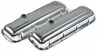 Chevrolet Big-Block V-8, 1965–1996 - Stamped Valve Covers - Chevrolet Big-Block V-8, 1965–1996 - Chrome, short, with baffle