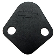 Fuel Pump Block-Off Plates - Big-Block, black crinkle
