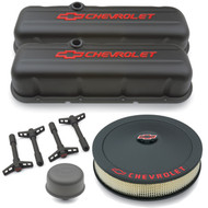 Black Crinkle Deluxe Dress Up Kit for Chevy Big Block Engines
