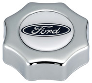 Oil Filler Cap; Screw-In; Ford Logo