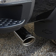 Exhaust Tip - Bowtie Logo, Dual Wall, Angle Cut, Highly Polished