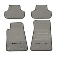 Floor Mats - Front and Rear Premium All Weather - Premium Carpet - Titanium Carpet, Black Camaro Logo, Black Edging