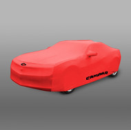 Vehicle Cover - Indoor - Red with Camaro Logo