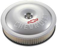 "14"" Super-Light Air Cleaners - Clear anodized aluminum, Chevrolet Bowtie logo"