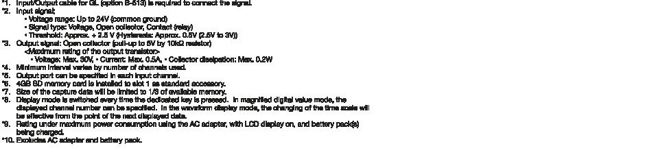 gl840 data logger accessories