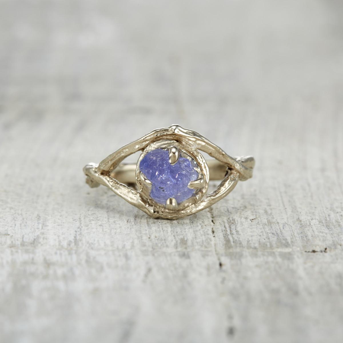 Chelsea Ring - Rough Cut Tanzanite