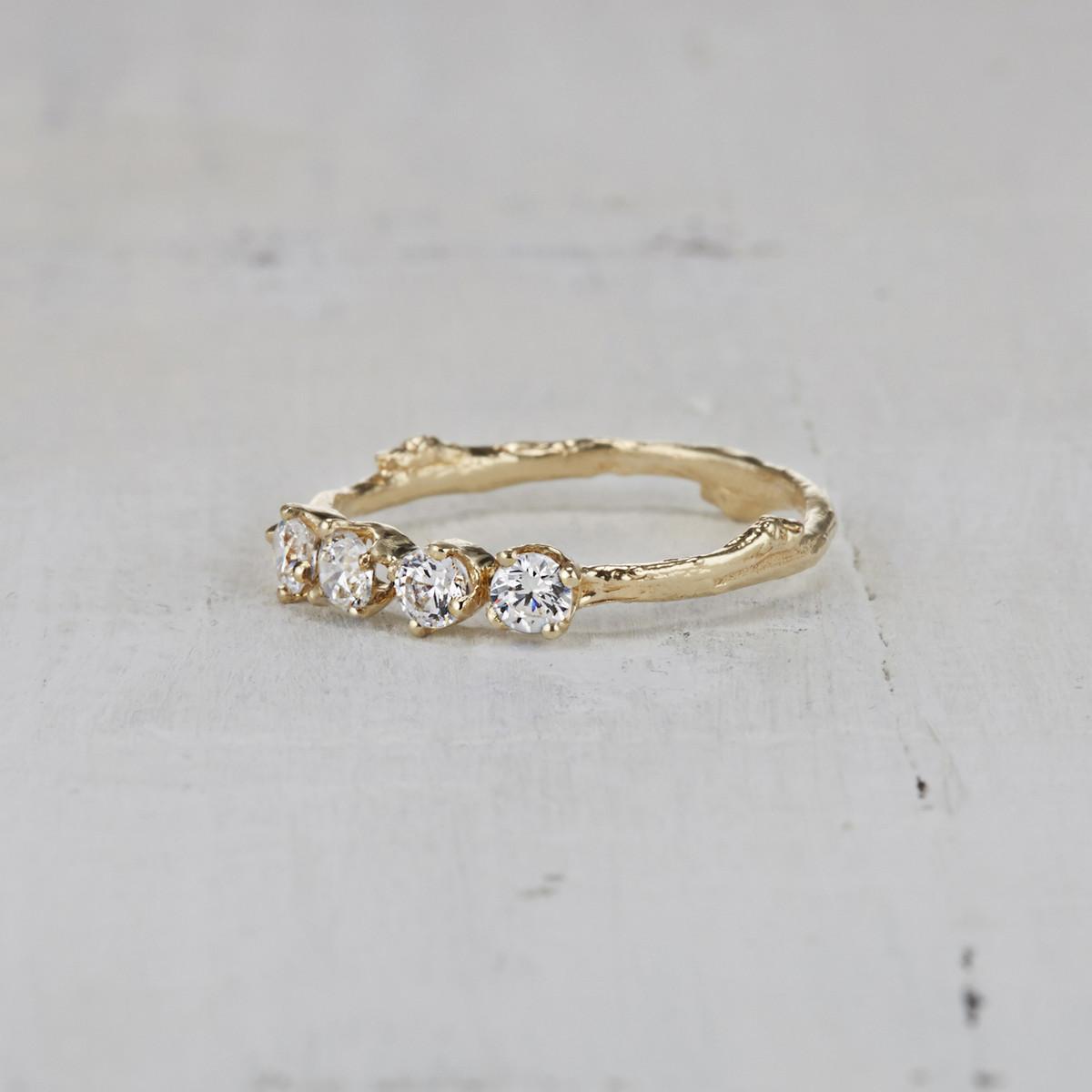 Four Stone Garland Ring - Diamond