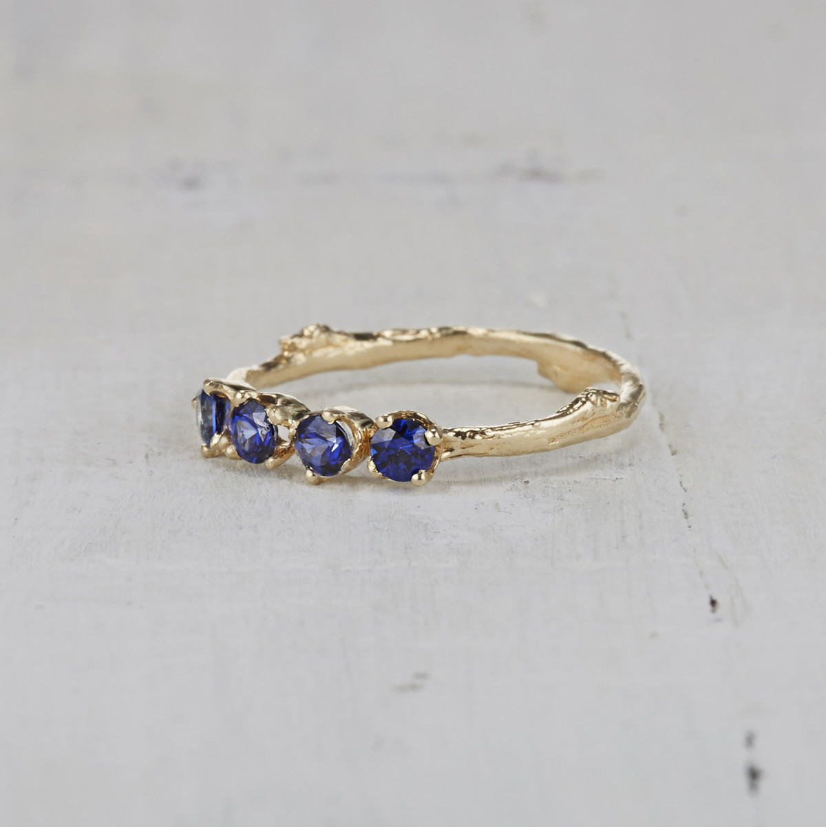 Four Stone Garland Ring - Sapphire