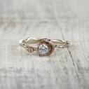 solitaire twig engagement ring