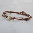 Nature inspired moissanite bracelet