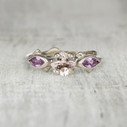 Aurora Three Stone Ring - Morganite