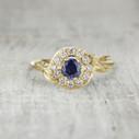 Aurora Halo Ring - Sapphire