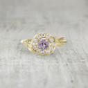 Aurora Halo Ring - Pink Sapphire