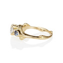 Aurora Three Stone Ring - White Sapphire