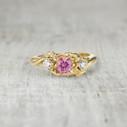 Harmony Three Stone Ring - Pink Sapphire and Diamond