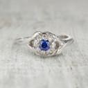 Harmony Halo Ring - Sapphire